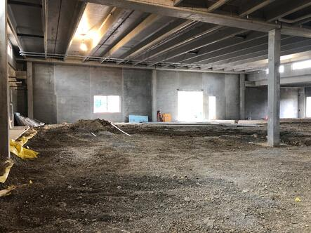 Building expansion under construction in June 2019