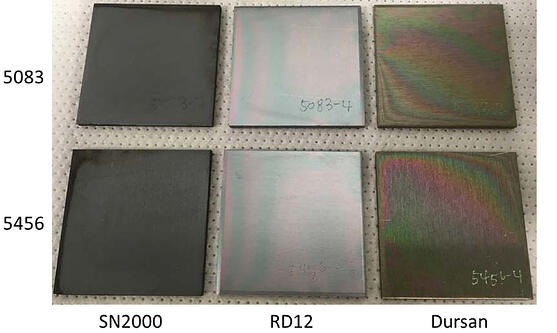 Coated aluminum comparison 2