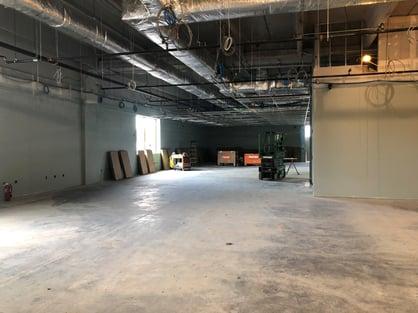 building expansion office under construction June 2019