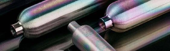 Coated sample cylinders