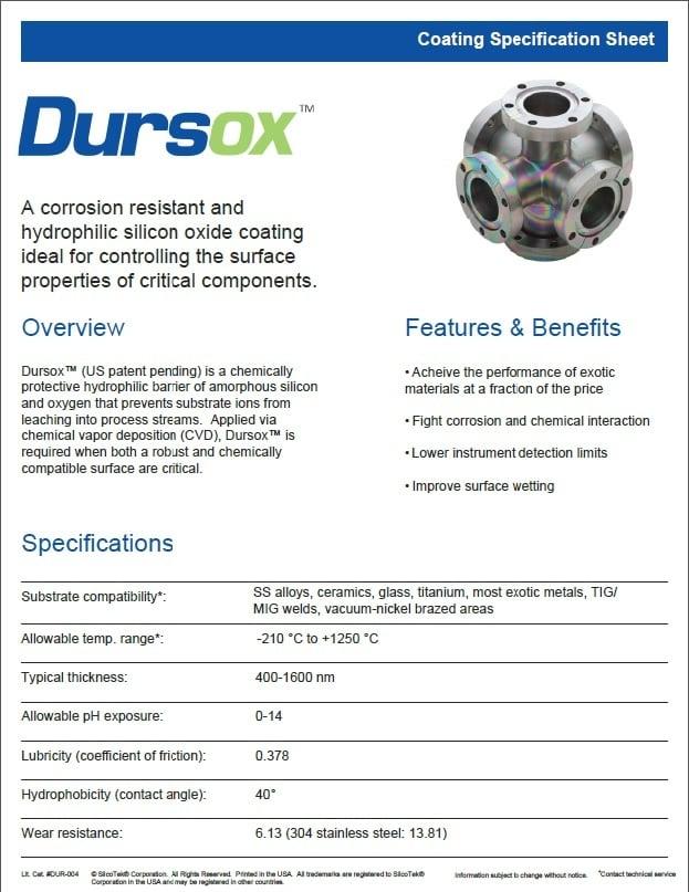 Dursox specification