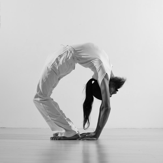 Yogi bending backwards